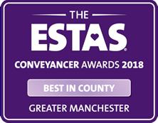 2018 Best in County Greater Manchester ESTA Conveyancer Awards LPL