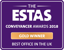 2018 Gold Winner Best office in the UK ESTA Conveyancer Awards LPL