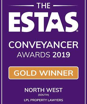 2019 Gold Winner North West ESTA Conveyancer Awards 2019 LPL